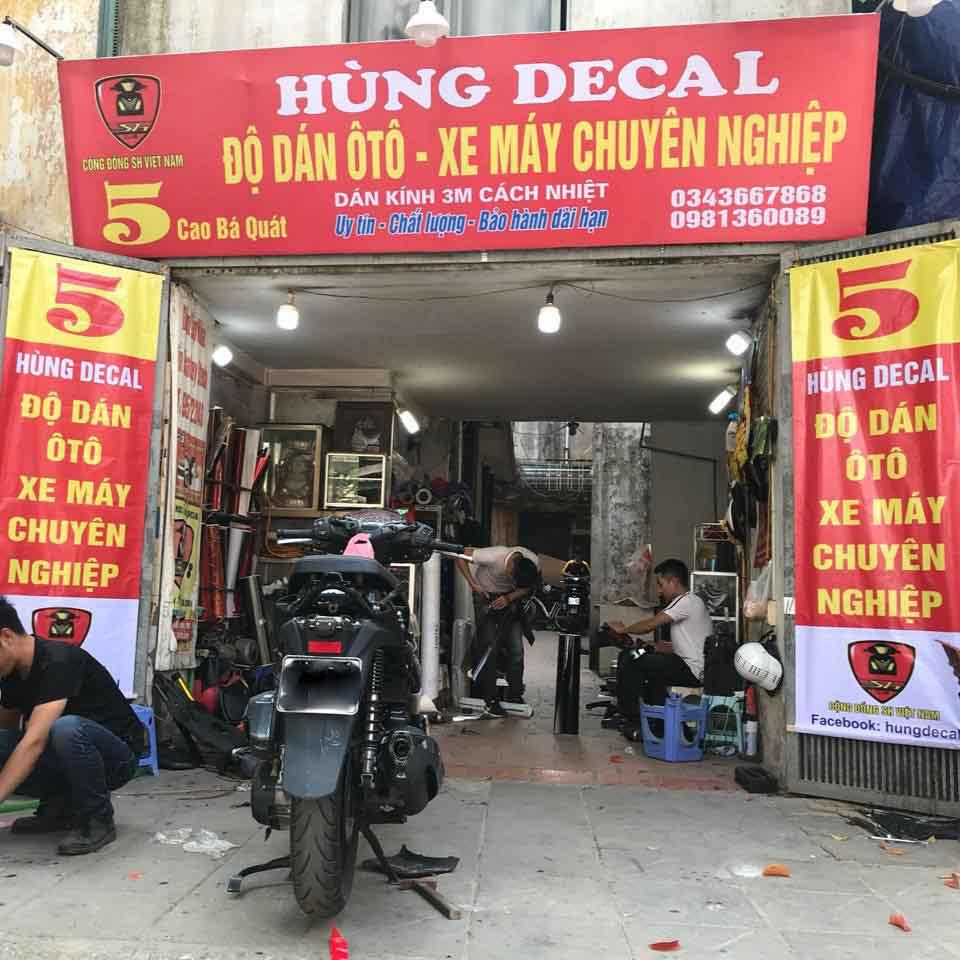 Hùng Decal là địa chỉ dán xe uy tín tại Hà Nội