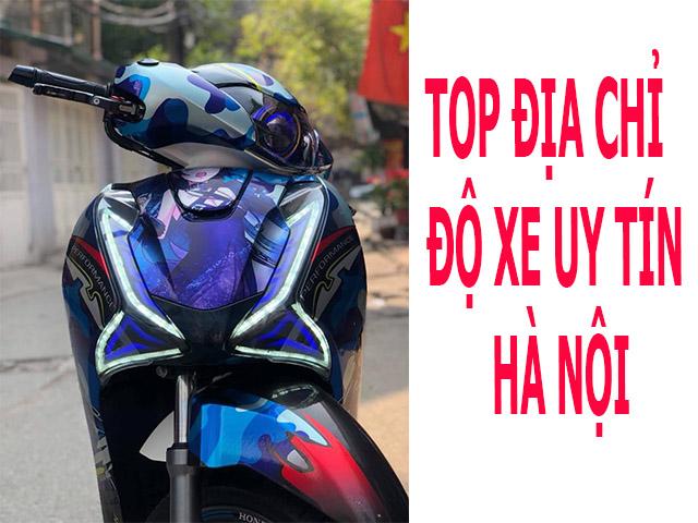 TOP 4 địa chỉ độ xe SH Việt uy tín ở Hà Nội hút khách nhất