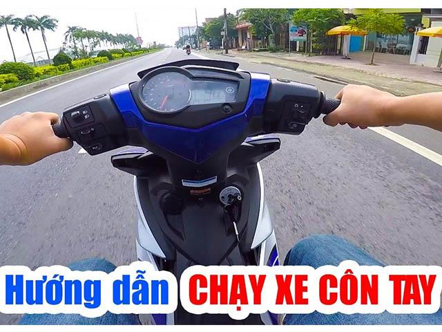 Cách đi xe côn tay Exciter 150 hiệu quả và an toàn nhất