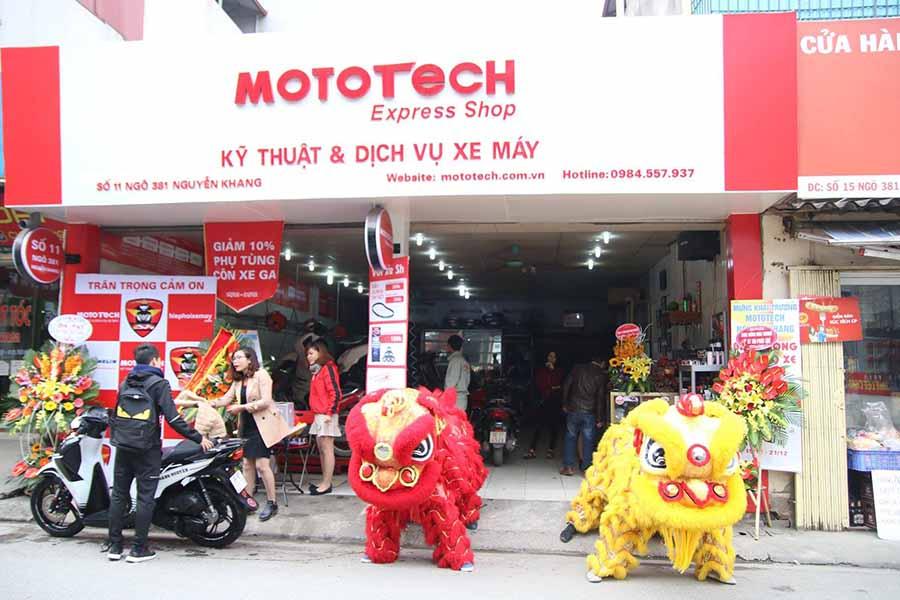 Mototech trung tâm sửa chữa, bảo dưỡng xe Sh uy tín