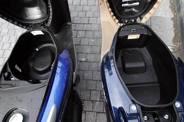 So sánh xe Vision và Grande thì cốp Grande rộng hơn