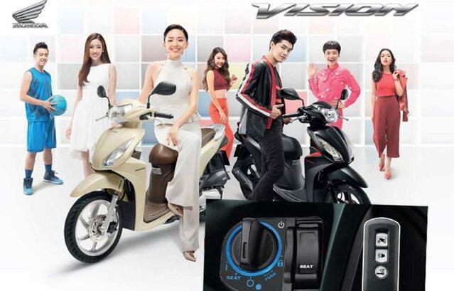 Honda Vision 2020 được trang bị hệ thống SmartKey