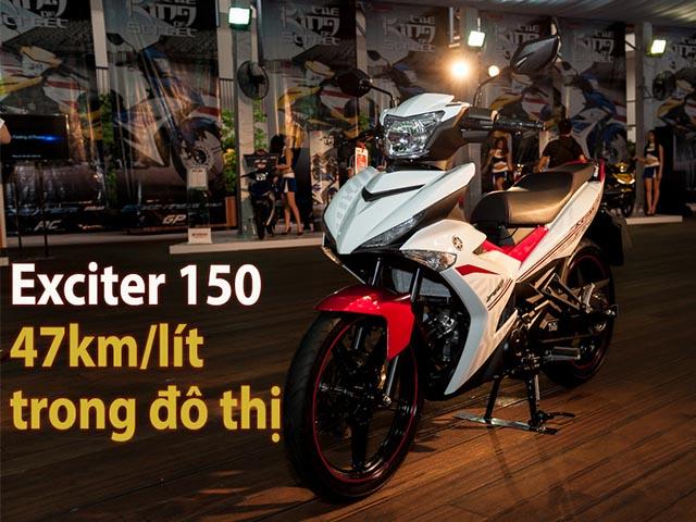 Mức tiêu hao nhiên liệu Exciter 150 47km/lít trong đô thị