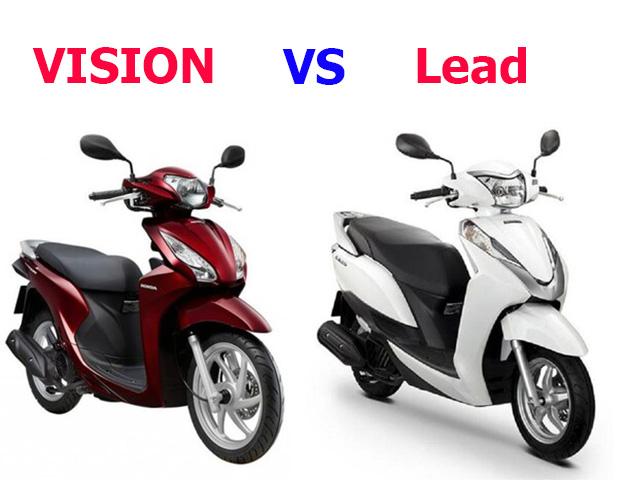 So sánh xe Vision và Lead – Phái nữ nên mua xe nào tốt hơn