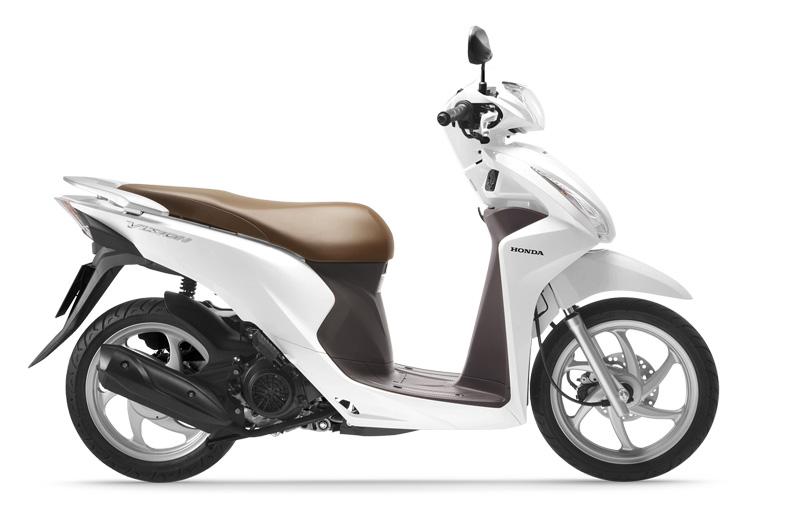 Xe Vision màu trắng nâu phiên bản tiêu chuẩn