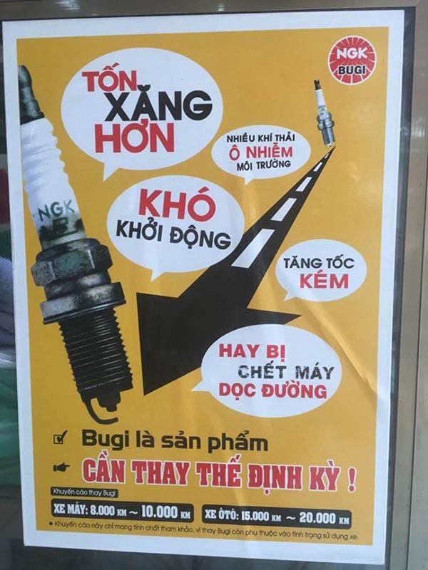 Thông điệp của hãng Bugi nổi tiếng thế giới NGK