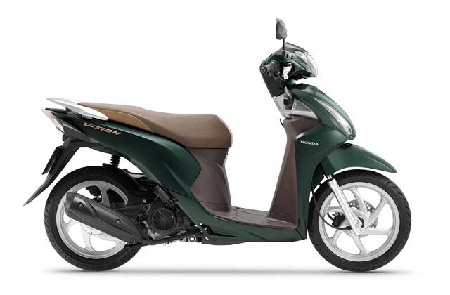 Honda Vision tiếp tục tung ra thị trường phiên bản 2002 thêm nhiều màu sắc