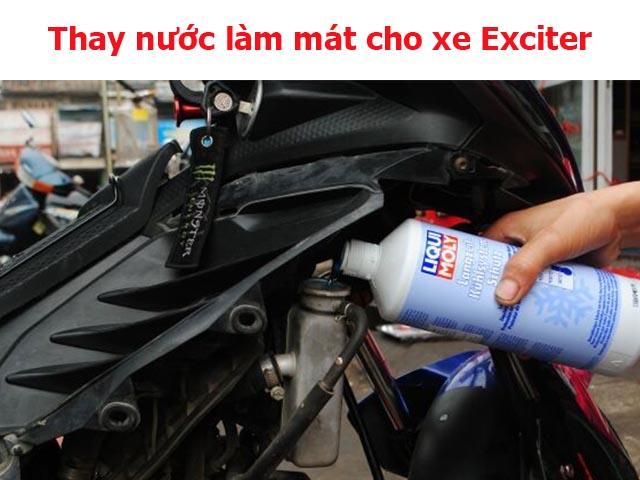 Nước làm mát cho xe Exciter rất quan trọng, cần thay thế định kỳ