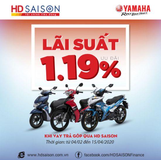 HD SaiSon thường xuyên tung ra các chương trình khuyến mại mua trả góp Yamaha thủ tục mua xe trả góp của yamaha