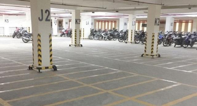 Tiêu chuẩn bãi đỗ xe máy cần phải kẻ vạch rõ ràng kích thước để xe máy
