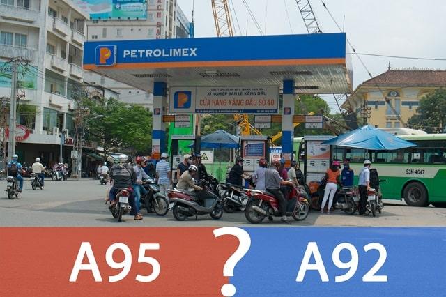 nên đổ xăng 92 hay 95 cho xe máy