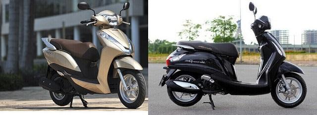 Honda Lead và Yamaha Grande đều được thiết kế động cơ tiết kiệm nhiên liệu