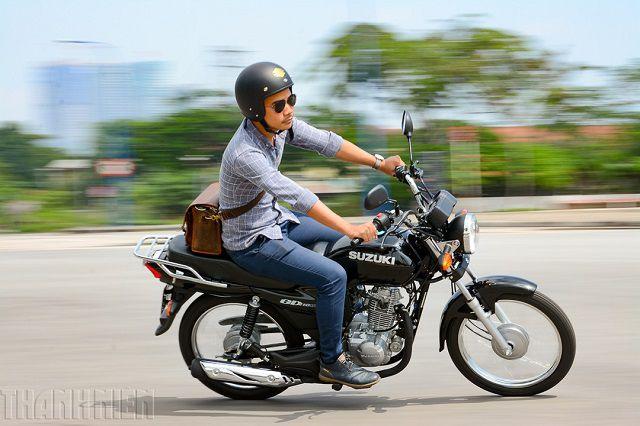 Thiết kế xe Suzuki GD110 moto cổ điển 150cc
