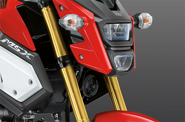 Thiết kế UPSIDE-DOWN giảm trọng lượng Honda MSX125