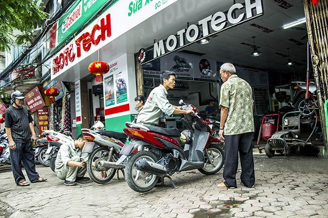 trung tâm cứu hộ và sửa xe uy tín Mototech