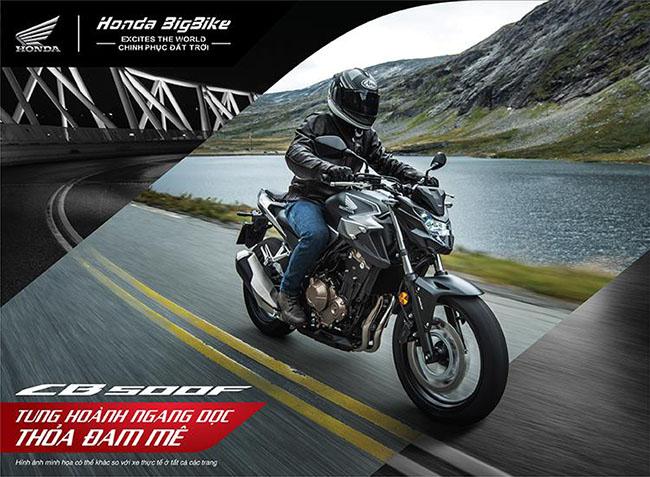 Dòng moto của Honda CB500F tung hoành ngang dọc thỏa đam mê