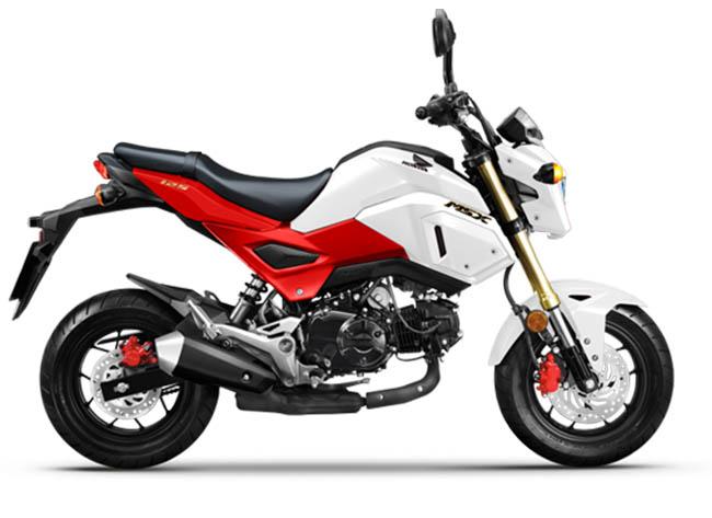 xe Honda MSX 125 trắng - đỏ