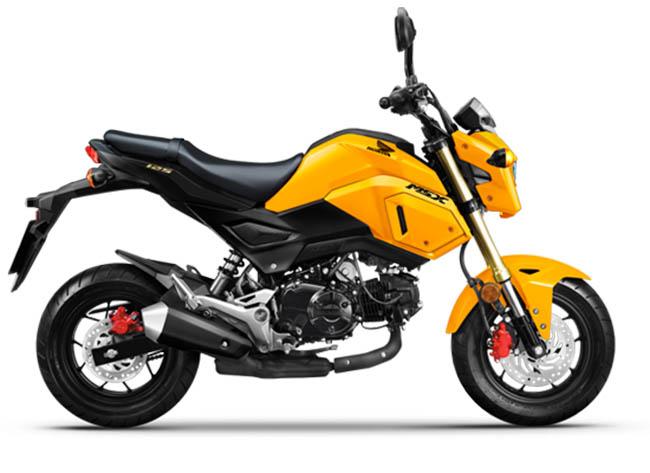 xe Honda MSX125 vàng - đen