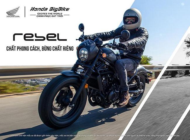 Mẫu xe môtô của Honda: Rebel 500 2021 chất phong cách bùng chất riêng
