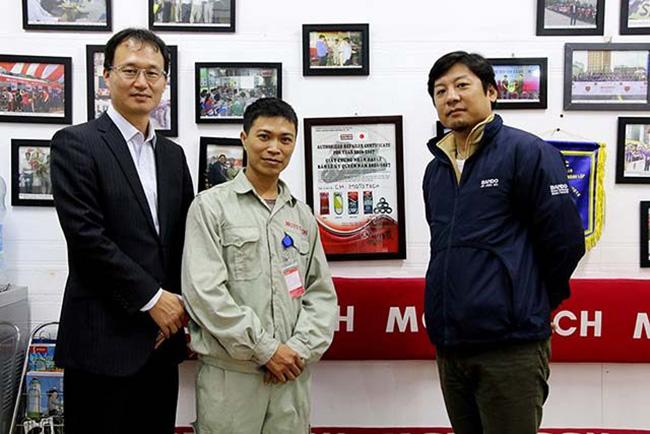 Đối tác Bando Nhật Bản - chuyên cung cấp dây Curoa đến thăm cửa hàng Mototech