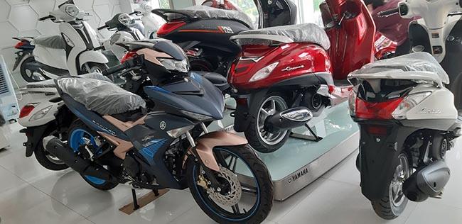khu trưng bày xe tại Yamaha town Mai Dũng