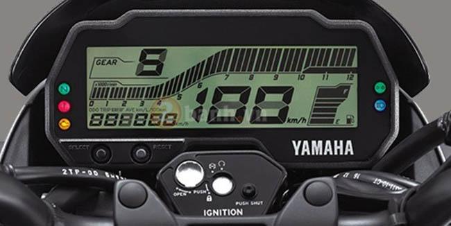 màn hình kĩ thuật số xe moto Yamaha FZ 155i