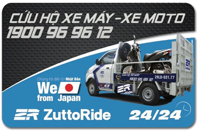 Thẻ cứu hộ xe máy ZuttoRide