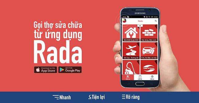 Rada ứng dụng cứu hộ xe máy Hà Nội